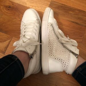 High Top White Sneakers